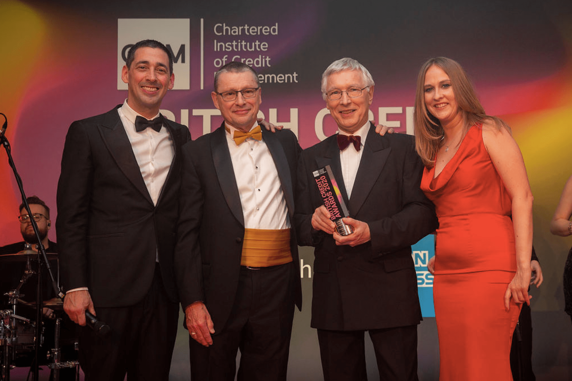 Charles Wilson receiving Outstanding Contribution to the Industry Award