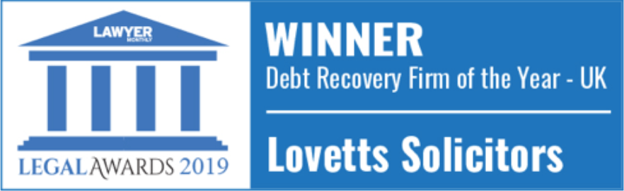 Winner of Debt Recover Firm of the Year 2019